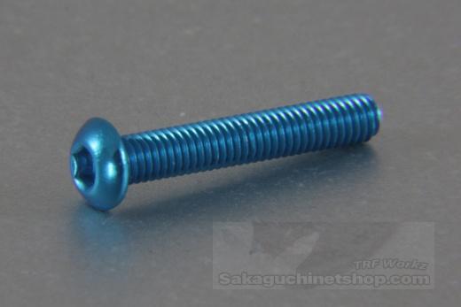Square Aluscrew Blue Button-Head M3x18mm