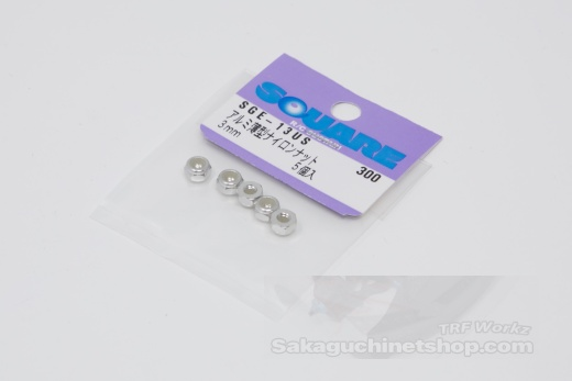 Square SGE-13US Aluminum M3 Nuts Silver (5 Pcs)