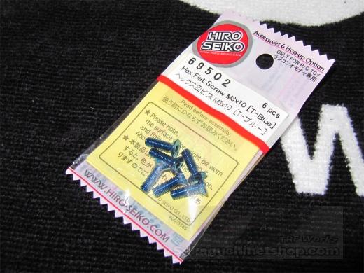 Hiro Seiko Steelscrew T-Blue M3 Countersunk-Head 3x10mm (6 pcs.)