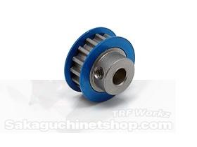 Square SGE-315 Aluminum Riemenrad Mittelwelle (15T) Blau