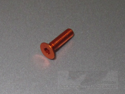 Hiro Seiko Aluschraube Orange Senkkopf M3x12mm