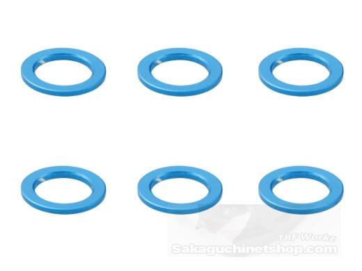 Square SGE-105 Aluspacer 4.0 x 6.0 x 0.5mm Tamiya Blau