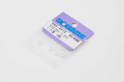 Square SGE-4610 Teflonspacer 3x5.8 x 1.0mm Ultraleicht (6 Stück)