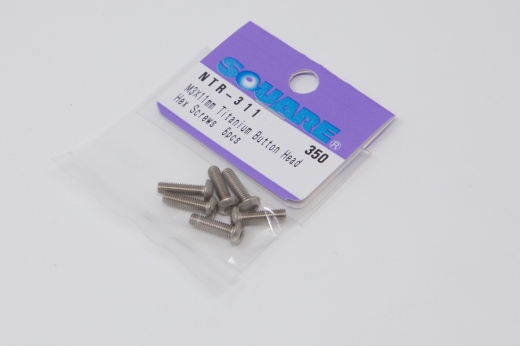 Square Titanscrew ISO7380 M3 Button-Head M3x11mm (6 pcs.)