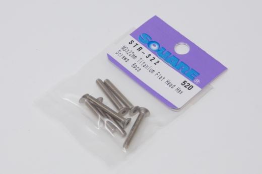 Square Titanscrew DIN7991 M3 Countersunk-Head M3x22mm (6 pcs.)