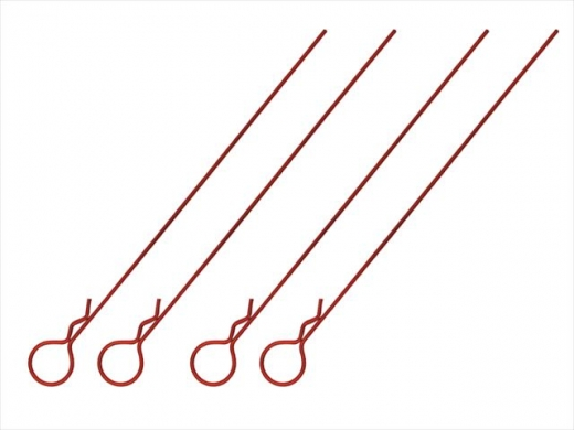Square SGF-05R Bodypins Long Large Head Red
