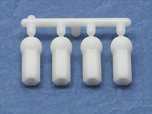 Square TGE-205SW Strong Rod Ends Short White (Tamiya)