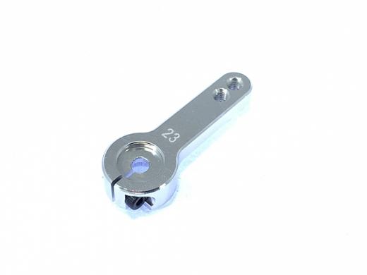 Square SGE-79S Alu Servohorn Lang 21/25mm Silber (Sanwa = 23 Zähne)