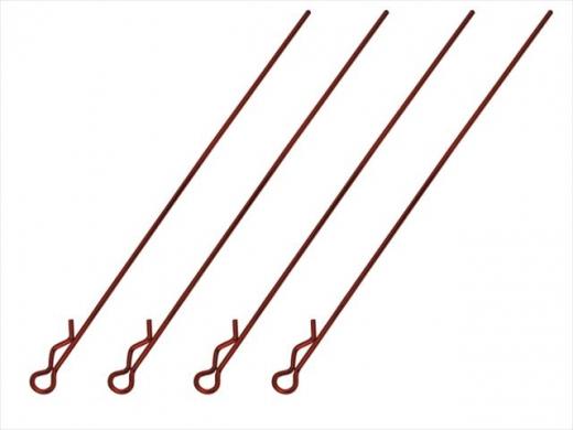 Square SGF-03R Bodypins Long Red
