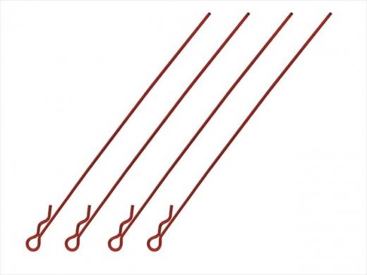 Square SGF-04R Bodypins Long Red