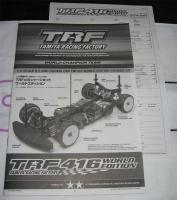 Tamiya TRF416WE Bauanleitung + Setting Sheet