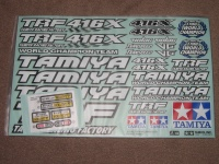 Tamiya TRF416X Aufklebersatz