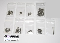Square Xray T2 008 Titanium Screw Set