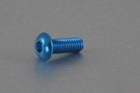 Square Aluscrew Blue Button-Head M3x8mm
