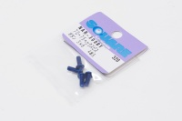 Square Aluscrew Yokomo Blue Button-Head M3x8mm