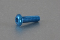 Square Aluscrew Blue Button-Head M3x10mm