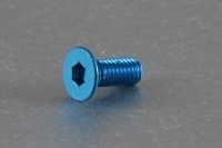 Square Aluscrew Blue Countersunk-Head M3x8mm