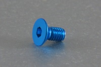 Square Aluscrew Blue Countersunk-Head M3x6mm