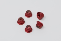Square SGE-14FR Aluminum Wheelnuts Red (5Pcs)