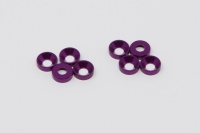 Square SGE-8P 3mm Alu-Senkkopfspacer Purple