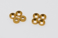 Square SGE-8G 3mm Alu-Senkkopfspacer Gold