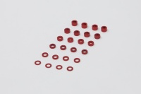 Square SGE Aluspacerset 3x5.5mm (24 pieces) Red