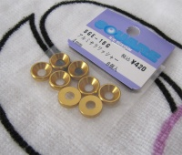 Square SGE-16G 4mm Alu-Senkkopfspacer Gold
