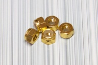 Square SGE-13G Aluminum M3 Nuts Gold (5 Pcs)