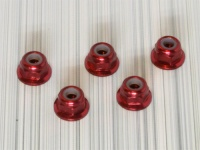Square SGE-13FR Aluminum M3 Flanged Nuts Red (5Pcs)
