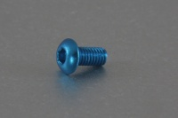 Square Aluscrew Blue Button-Head M3x6mm