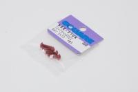 Square Aluscrew Red Button-Head M3x10mm