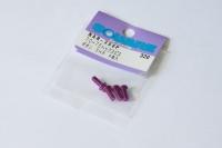 Square Aluschraube Purple Linsenkopf ISO7380 M3x8mm