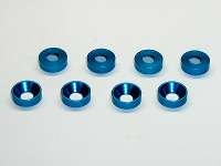 Square SGE-8TB 3mm Alu-Countersunkspacer Tamiya Blue