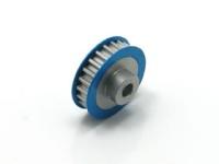 Square SGE-321 Aluminum Riemenrad Mittelwelle (21T) Blau