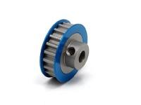 Square SGE-320 Aluminum Riemenrad Mittelwelle (20T) Blau