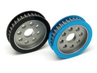 Square STA-332 Aluminum Diff-Riemenrad (32T) Blau