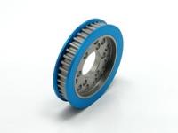 Square STA-340W Aluminum Freilauf-Riemenrad (40T) Blau