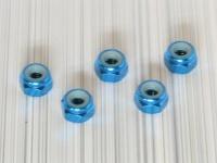 Square SGE-14TB 4mm Aluradmuttern Tamiya Blau (Hellblau)