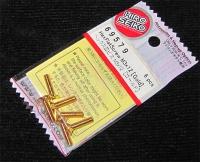 Hiro Seiko Steelscrew Gold M3 Countersunk-Head 3x12mm (6 pcs.)