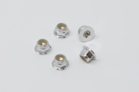 Square SGE-14FS Aluminum Wheelnuts Silver (5Pcs)