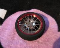 Square TRX-17YSR Alu Fernsteuer Rad BBS Y-Styling Silber/Rot (In