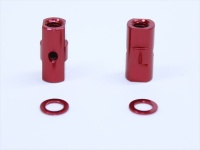 Square SGE-5010R Alu Post Set M3x5.0 x 10.5mm Red