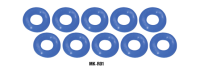 MuchMore MK-R01 Silicone O-Ring 30deg (Blue)