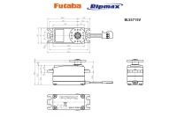 Futaba Brushless Digital Low Profile EP Servo BLS-571SV (9.4kgcm, 0.10s)
