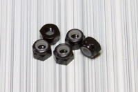 Square SGE-13BK Aluminum M3 Nuts Black (5 Pcs)