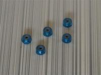 Square SGE-12TB Aluminum M2 Nuts Tamiya Blue (5 Pcs)
