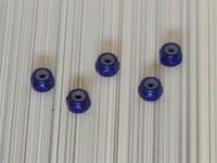 Square SGE-12BY Aluminum M2 Nuts Yokomo Blue (5 Pcs)