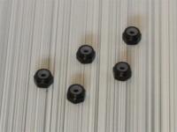 Square SGE-12BK Aluminum M2 Nuts Black (5 Pcs)