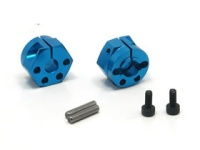 Square TGE-1208 Tamiya Alu wheel hubs 8mm blue