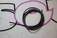 Silicone Wire 1.5mm^2 (1m) Black (16 AWG)